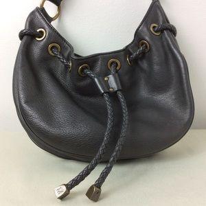 VTG MICHAEL KORS Black Leather Bucket Mini Handbag